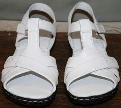 Сандалии кожаные женские Evromoda 15 White.