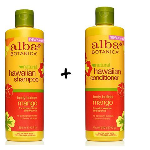 Комплект №21 для волос с манго для объема, Alba Botanica