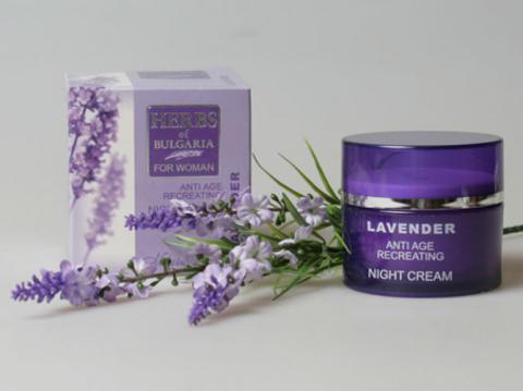 Омолаживающий обновляющий ночной крем для лица Lavender