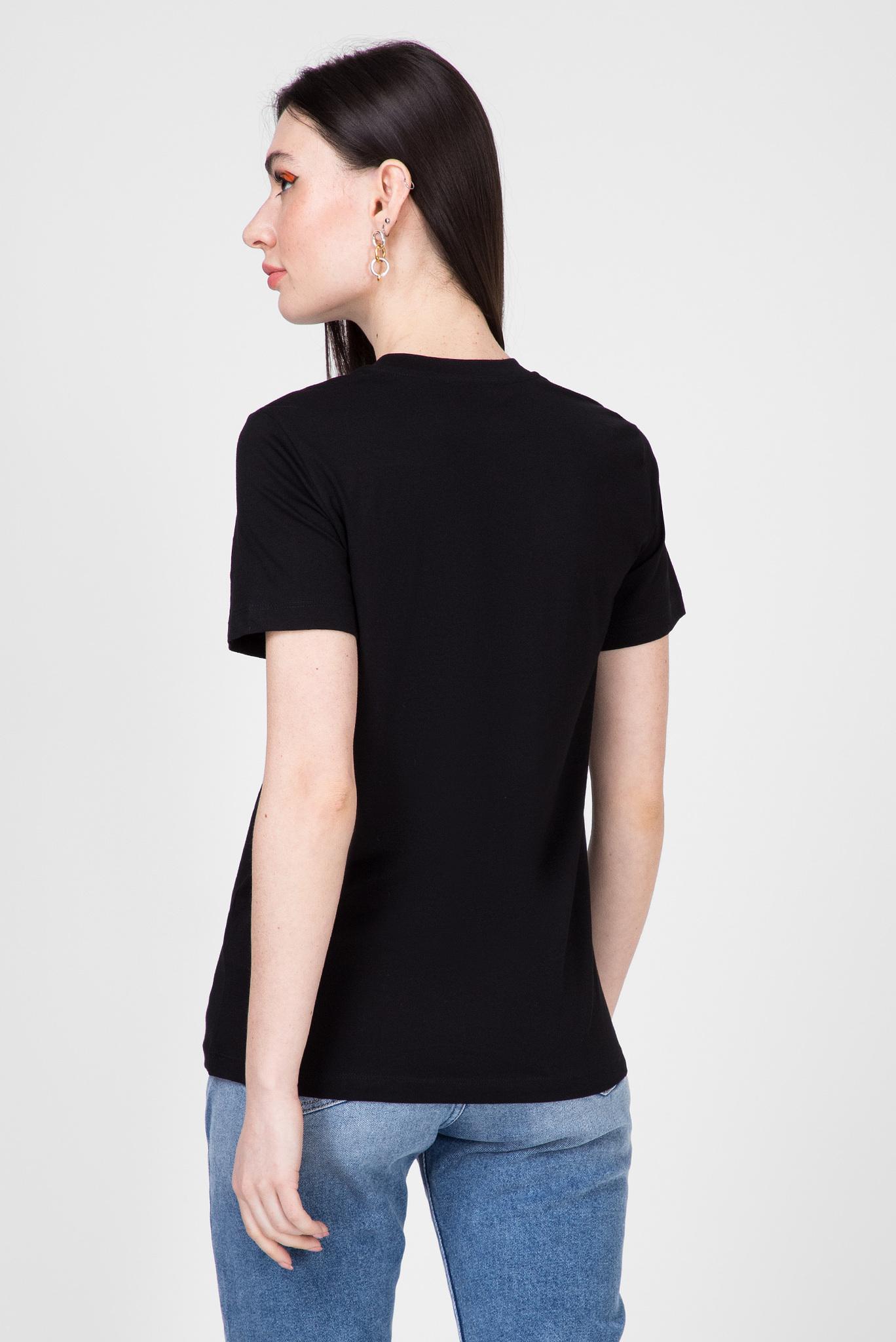 Женская черная футболка T-SILY-S7 Diesel