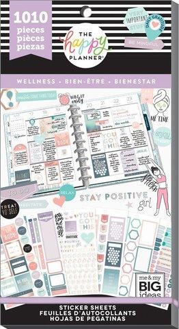 Блокнот со стикерами -Value Pack Stickers - Wellness- 1010 шт