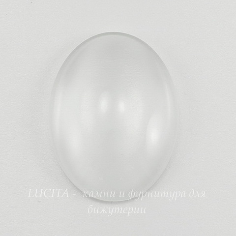 Кабошон овальный прозрачное стекло, 30х20 мм ()