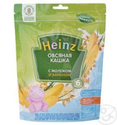 Каша Heinz овсяная с бананом с 6 мес. 250 гр. мол.