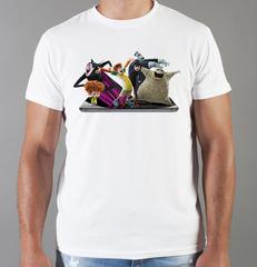 Футболка с принтом мультфильма Монстры на каникулах ( Hotel Transylvania) белая 008