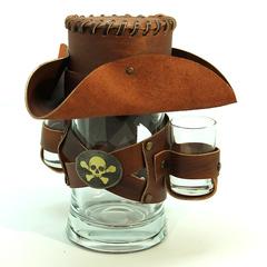 Сувенирная кружка Пират, коричневая