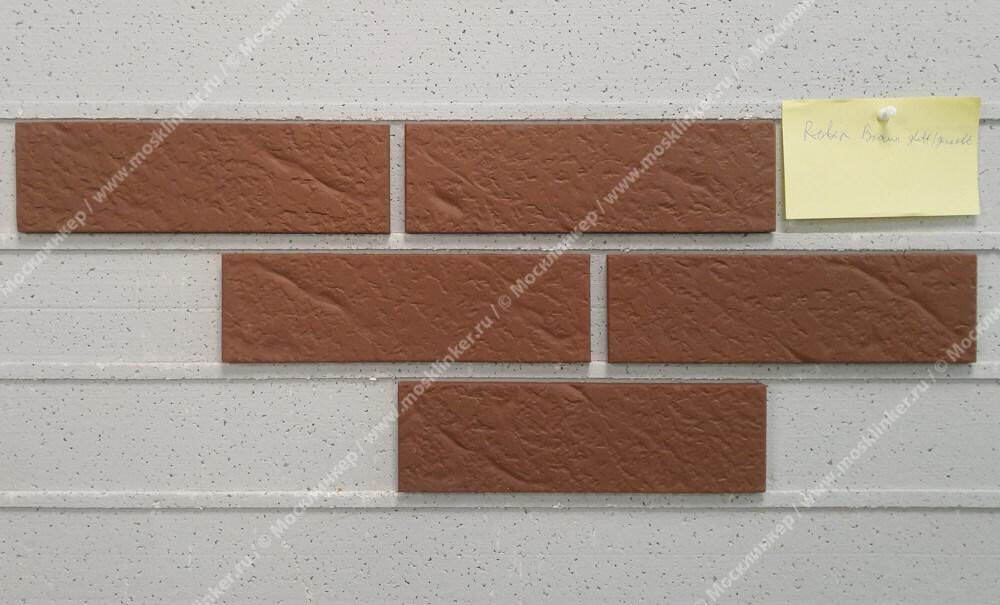 Roben - Braun, NF9, 240x9x71, мерейная (genarbt) - Клинкерная плитка для фасада и внутренней отделки