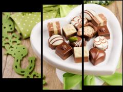 """Модульная картина """"Шоколадные конфеты"""""""