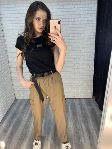 штаны карго джоггеры женские интернет магазин