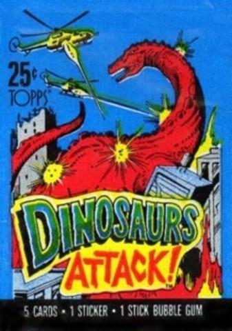 Dinosaurs Attack Collector Cards Pack || Коллекционные карточки Динозавры Атакуют 1988 год