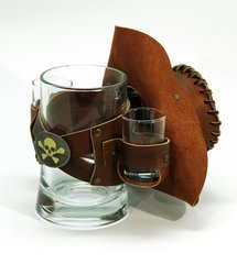 Сувенирная кружка Пират, коричневая, фото 2