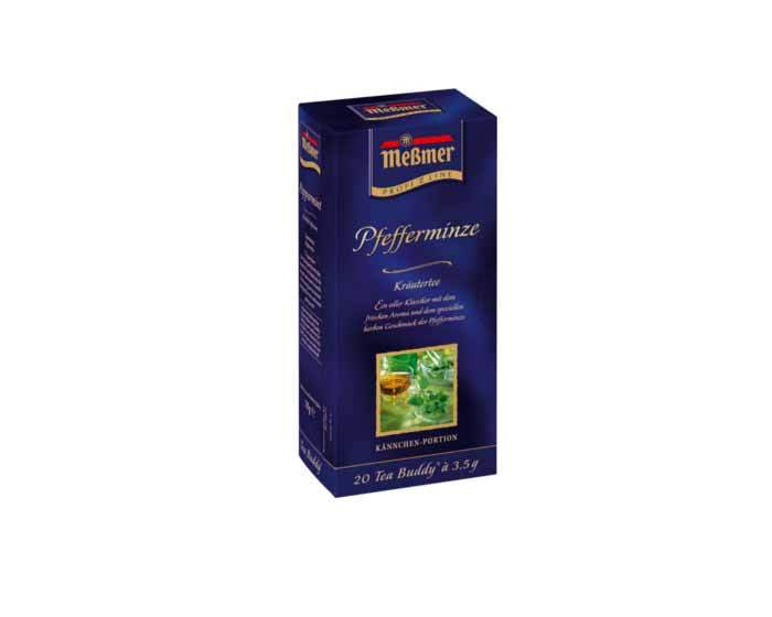Чай травяной в пакетиках Messmer Мята, 20 пак/уп, 3,5 г