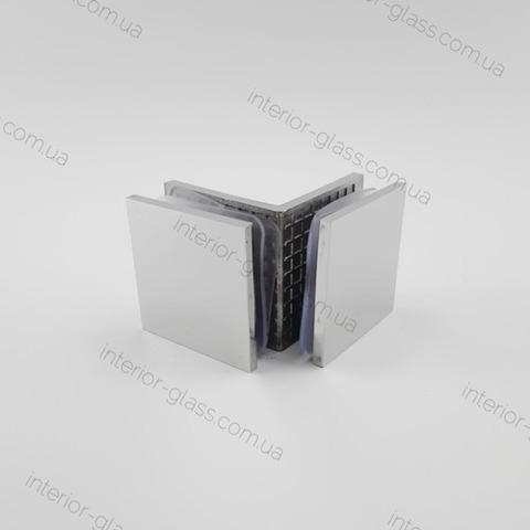 Соединитель для стекла 90 град. HDL-725 PSS литой нерж. сталь