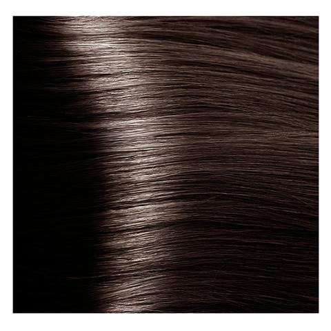 Крем краска для волос с гиалуроновой кислотой Kapous, 100 мл - HY 5.81 Светлый коричневый шоколадно-пепельный