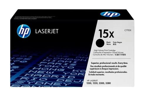 Оригинальный картридж HP C7115X (№15X), чёрный