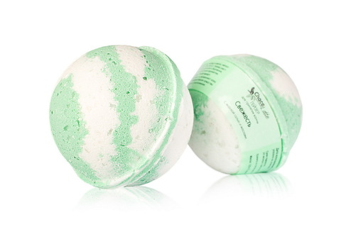Гейзер (парфюм) для ванн Свежесть с морской солью и маслом оливы,d 6см.TMChocoLatte