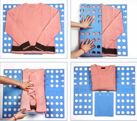 Шаблон для складывания рубашек, футболок  (68-72 см) трафарет складная доска Голубая