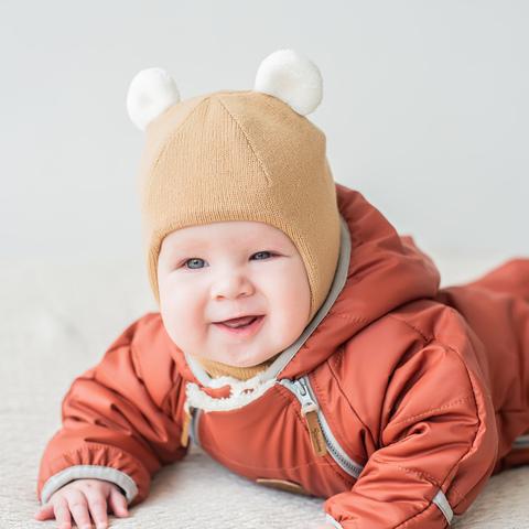 Шлем зимний с ушками