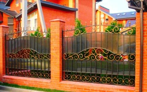 Кованый забор с поликарбонатом N-3