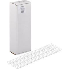 Пружины для переплета металлические ProMega Office 11,1мм белые100шт/уп.