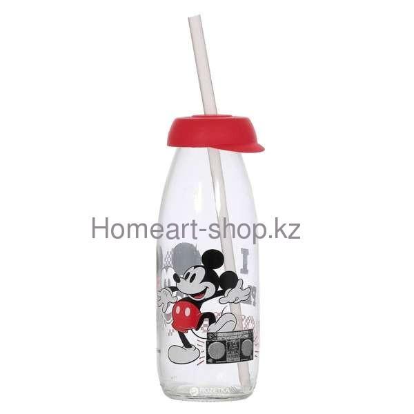 Бутылка детская с трубочкой mickey mouse 500 мл