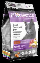 Корм ProBalance Gourmet Diet для взрослых кошек с говядиной и ягненком