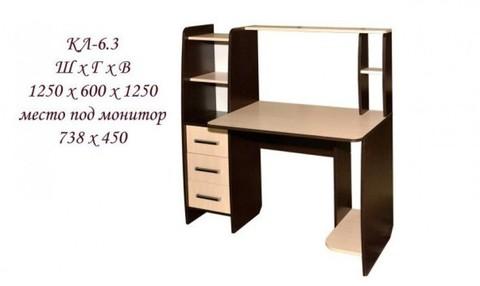 Компьютерный стол КЛ №6.3
