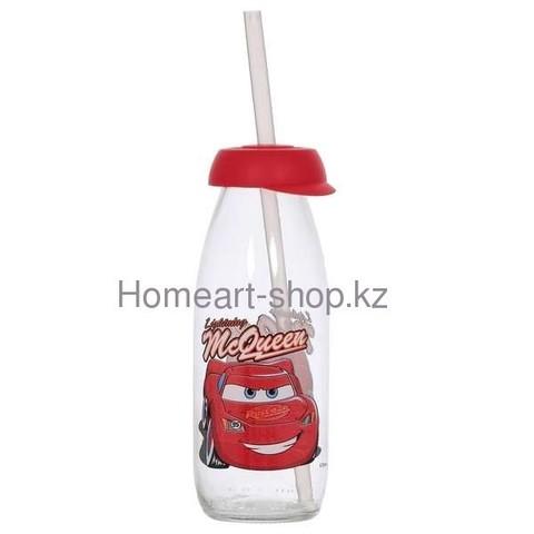 Бутылка детская с трубочкой mcqueen 500 мл