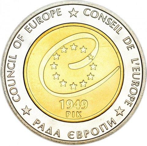 """5 гривен """"Совет европы"""" 2009 год"""