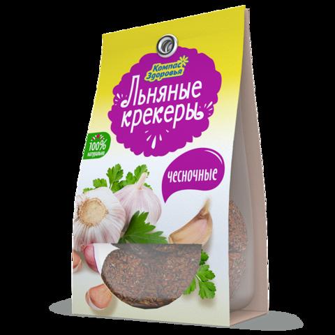 Компас здоровья Льняные крекеры с чесноком 50 г