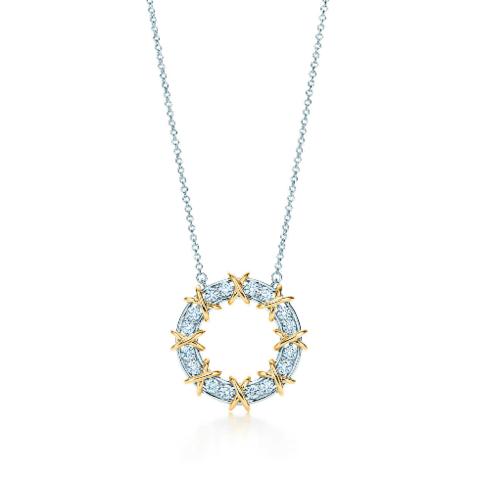 Подвеска-кольцо из серебра с позолотой Sixteen Stone