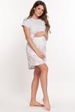Ночная сорочка для беременных и кормящих 10505 серый