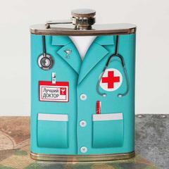 Фляжка «Лучший доктор», 240 мл, фото 2