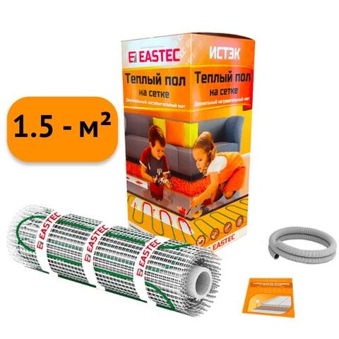 Электрический теплый пол под плитку. Нагревательный мат Eastec ECM - 1.5. (1.5 кв.м/240W). EASTEC ECM - 1,5