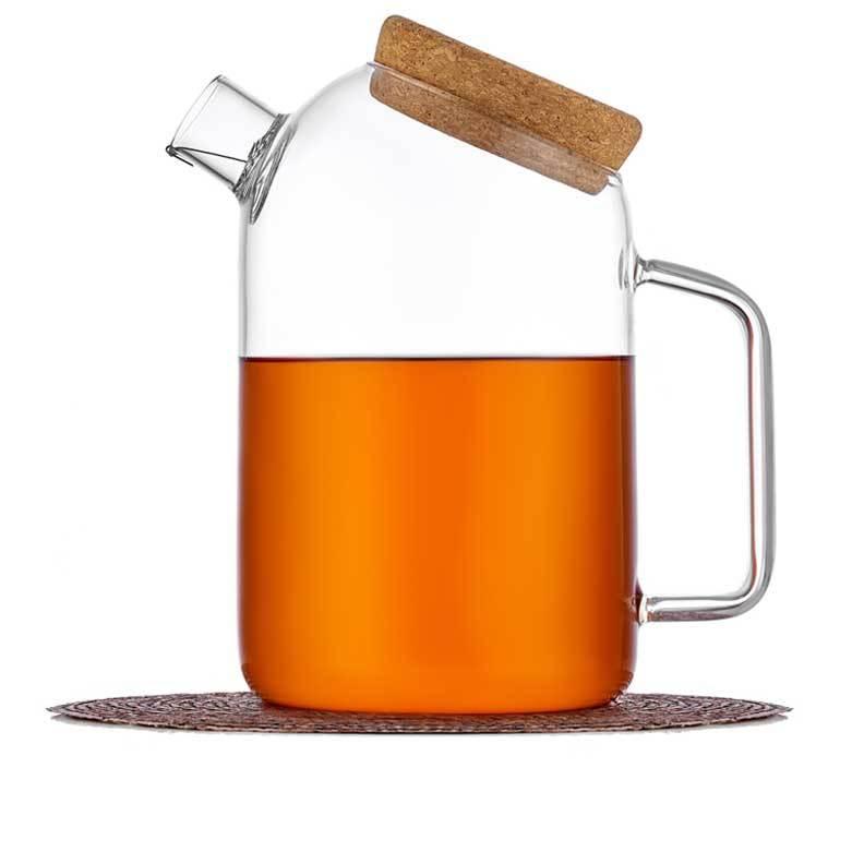 Чайники заварочные стеклянные Чайник заварочный стеклянный 1,2 л с фильтром, из жаростойкого стекла с пробковой крышкой chaynik_zavarochniy_steklyanniy_1-037-1200-teastar.jpg