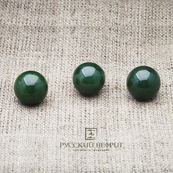 Вставки Шарик 12мм. Тёмно-зелёный нефрит (класс модэ). businy_zel_12.jpg
