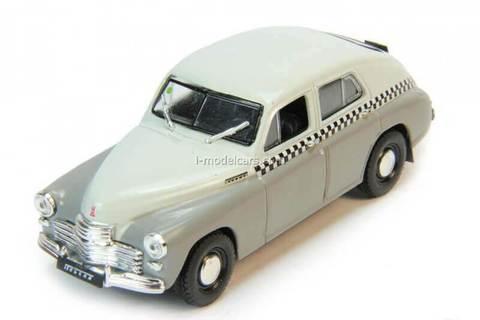 GAZ-M20 Pobeda Taxi gray 1:43 DeAgostini Auto Legends USSR #185