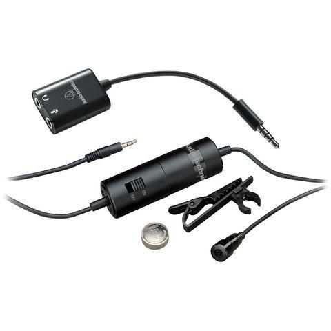 Audio-Technica ATR3350iS конденсаторный петличный микрофон