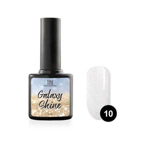Гель-лак TNL Galaxy shine №10 - белый с шиммером (10 мл.)