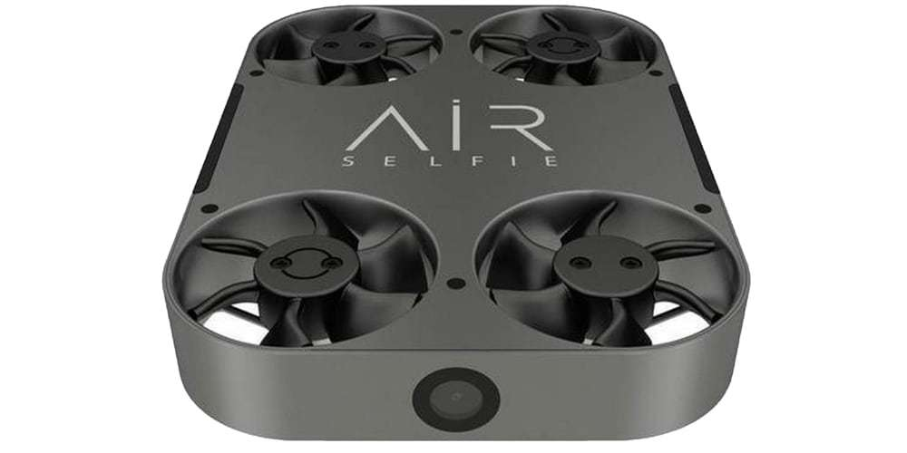 Квадрокоптер Airselfie 2 Power Edition (black) вид спереди