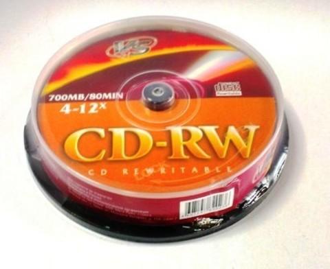 Диск VS CD-RW 80 4-12x CB/10