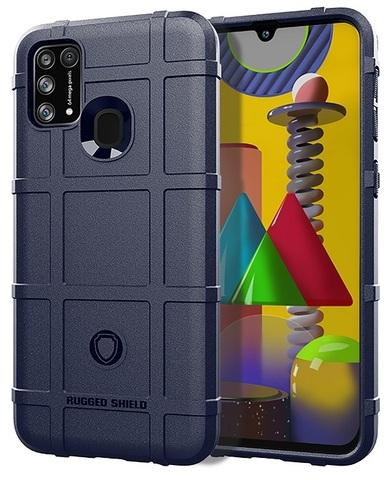 Противоударный чехол синего цвета для Samsung Galaxy M31, серии Armor от Caseport