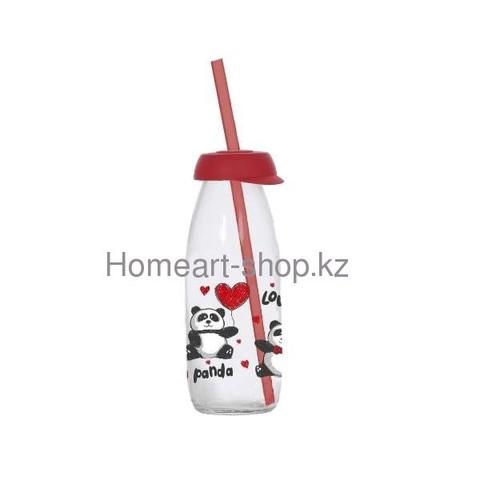 Бутылка детская с трубочкой panda 250 мл