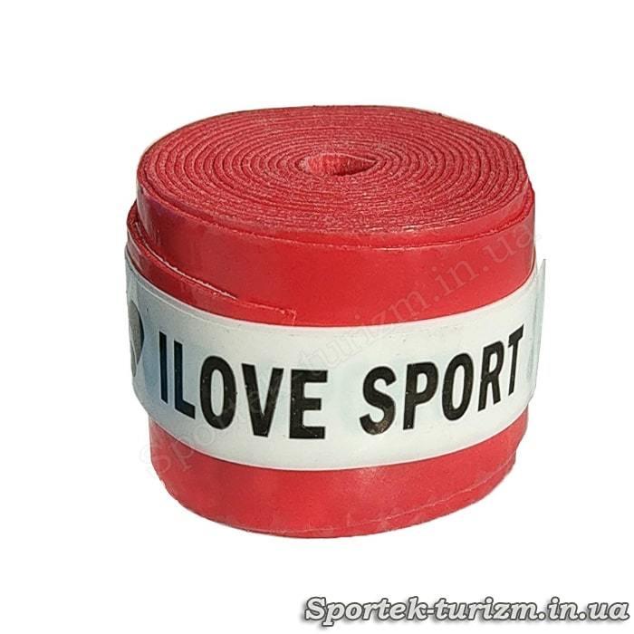 Червона тонка обмотка I Love Sport для ручки ракетки