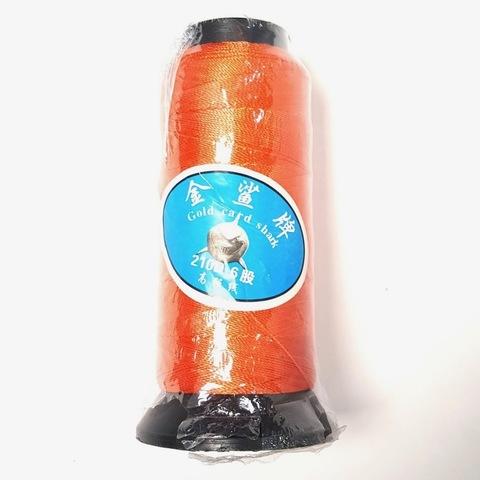 Нить для бус  большая катушка 0,6 мм цвет оранжевый