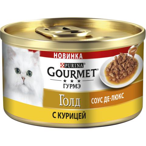 Gourmet Gold пауч для кошек желе делюкс (курица) 75 г