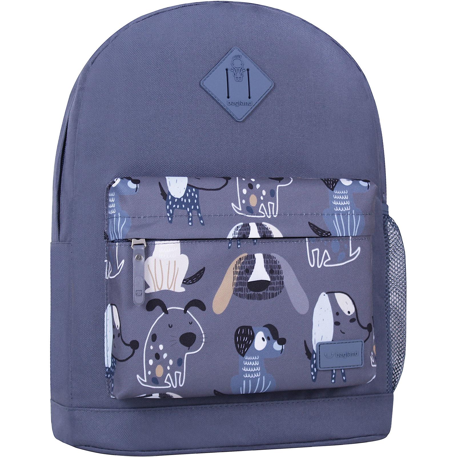 Городские рюкзаки Рюкзак Bagland Молодежный W/R 17 л. Серый 771 (00533662) IMG_6346_суб.771_.JPG