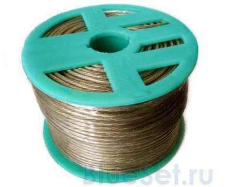 Трос стальной в оплетке ПВХ 3 мм для растяжки