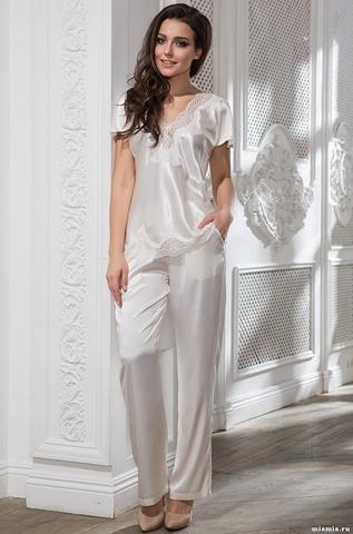 Комплект женский шелковый с брюками Mia-Amore ISABELLA Изабелла 3186