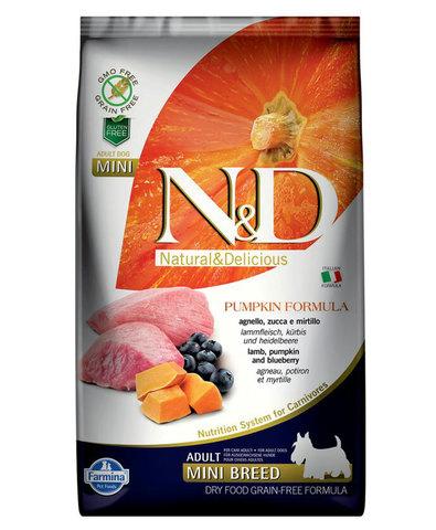 Farmina N&D Dog сухой корм для собак мелких пород (ягненок с черникой и тыквой) 2,5 кг