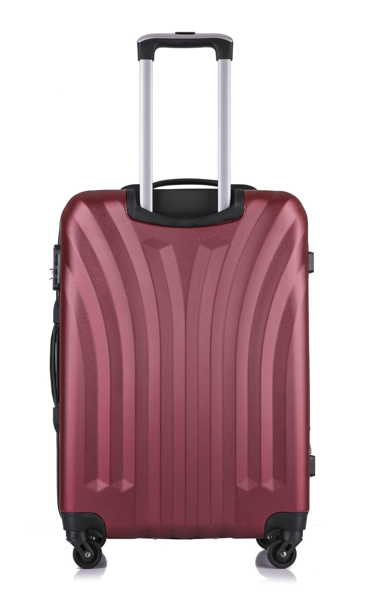 Чемодан с расширением L'case Phuket-24 Бордовый (M+)